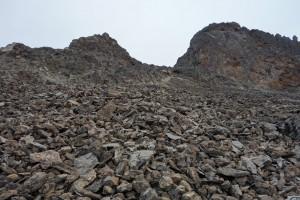 High Alpine Desert Terrain on-route to Barafu Camp