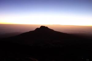 Mt. Meru on way up to summit at the crack of dawn