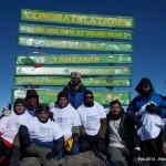 Team Paagal at Uhuru Peak Kilimanjaro