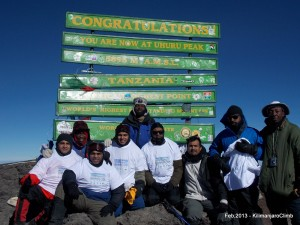 Team Paagal at Uhuru Peak Kilimanjaro