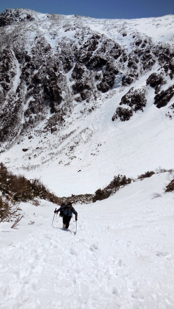 Going up Right Gully