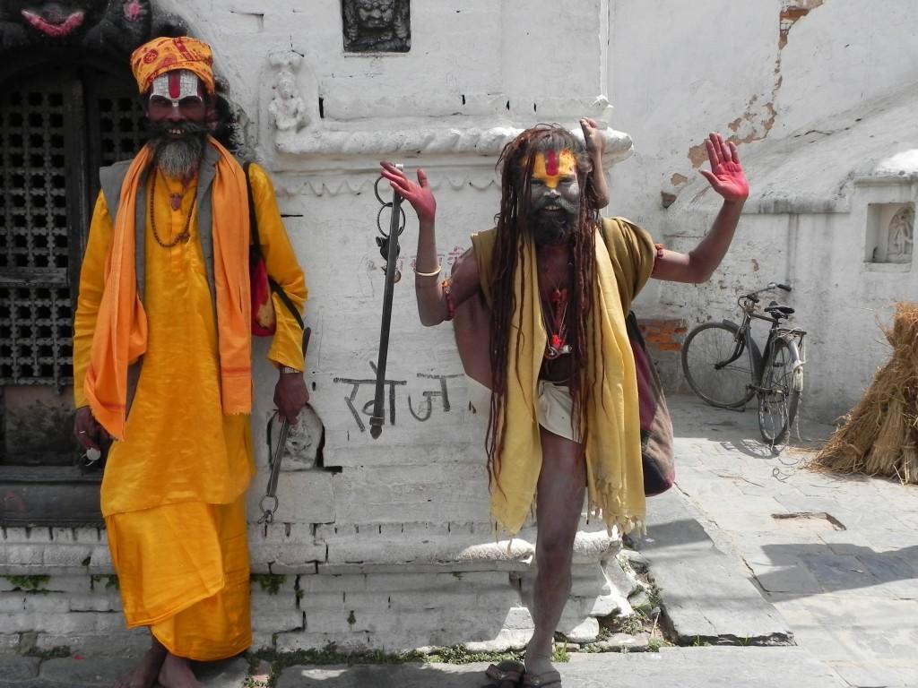 Street Swamis in Kathmandu