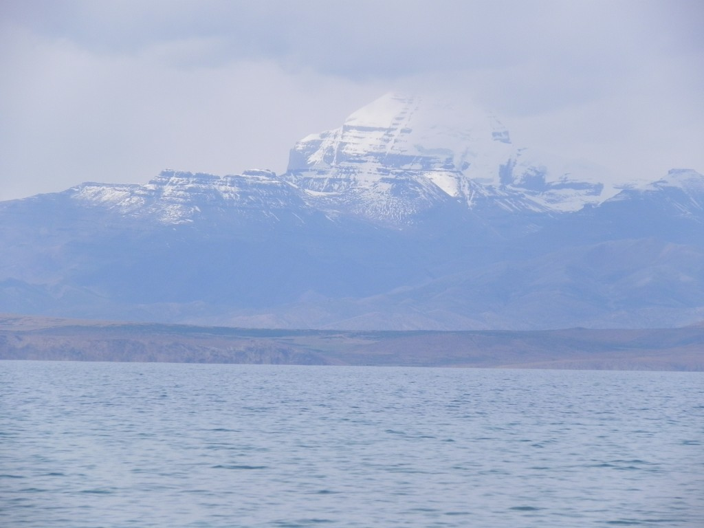 Manasa Sarovar with Mt. Kailash in view