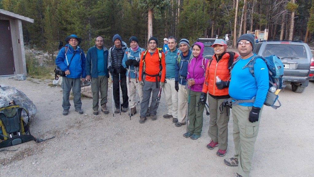 Our group of hikers
