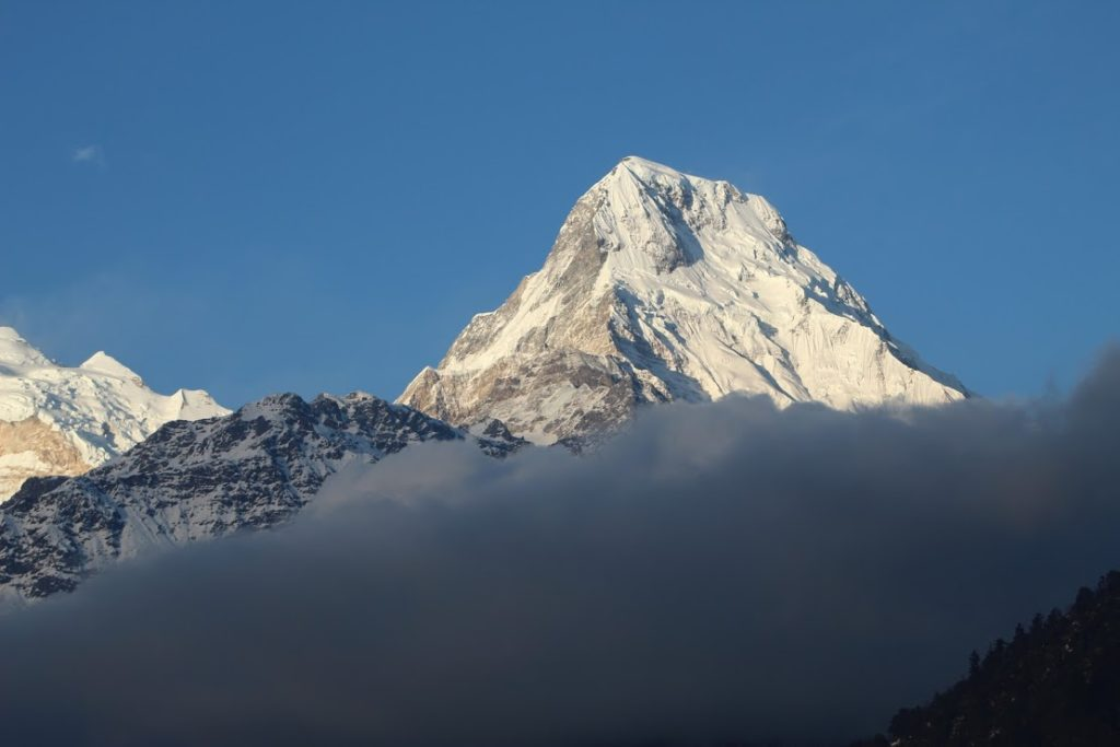 and Annapurna south and Annapurna I in back...
