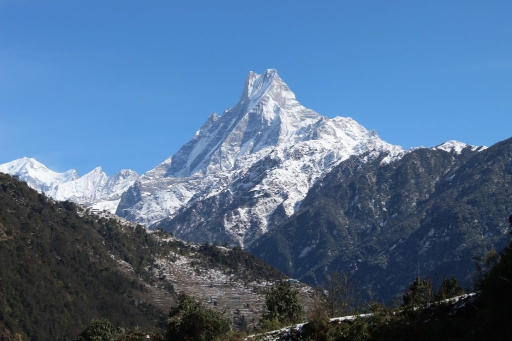 Beautiful machapuchre - considered to be lord shiva himself
