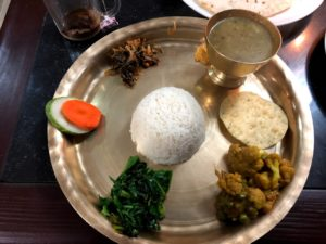 Typical mountain food - nepali dhal bhat