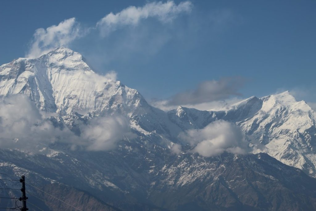 View of Dhaulagiri from ghorepani